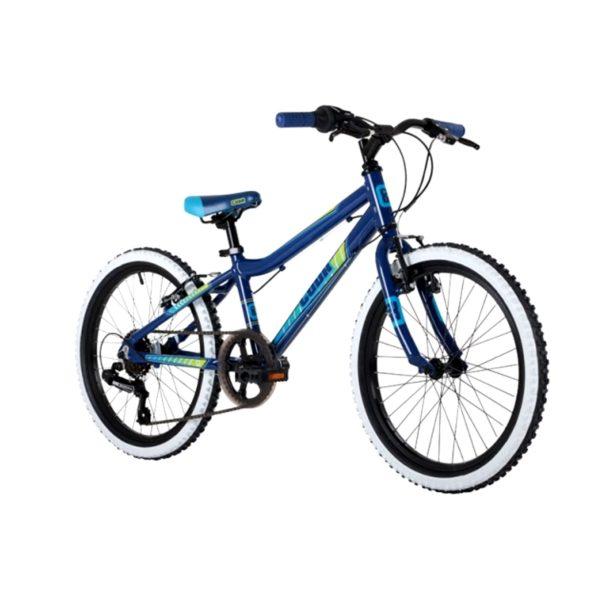"""Barracuda Cuda Mayhem 6 Speed Boys Alloy Mountain Bike 20"""" Wheel in Dark Blue/Gr"""