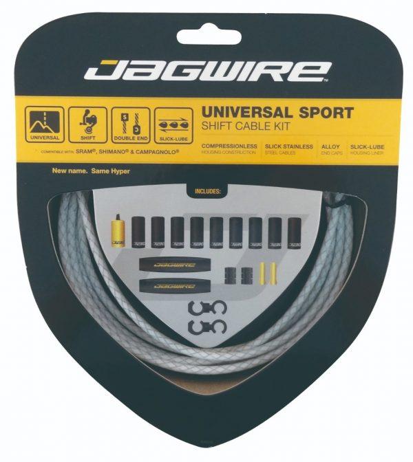 Jagwire Kit Universal Sport Gear Braided White