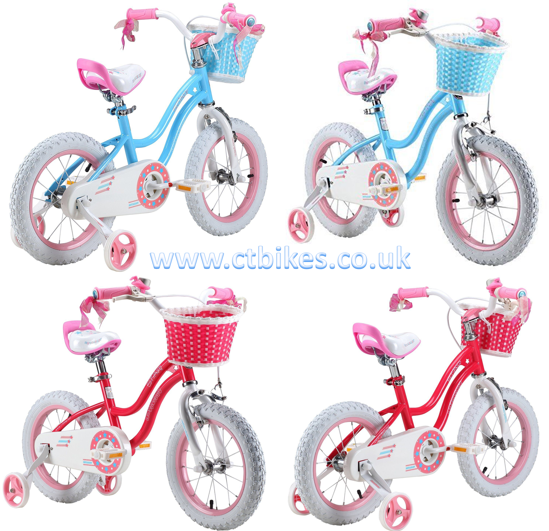 b861a05d63a7 ROYAL BABY STAR GIRL PRINCESS GRIL'S BIKES IN SIZE 12