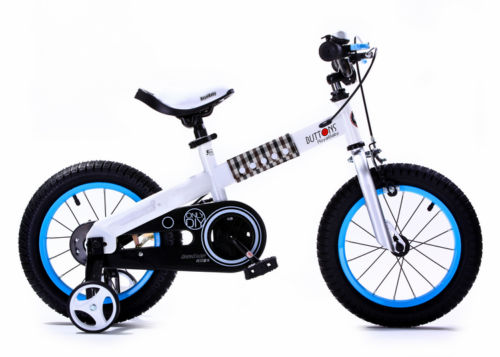 ROYAL BABY BUTTONS FREESTYLE BMX KIDS BIKES white frame-blue rim IN ...
